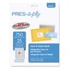 PRES-a-ply Laser/Inkjet File Folder Labels, 2/3 x 3 7/16, White/Assorted Border, 750/Pack
