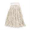 "Economy Cotton Mop Heads, Cut-End, White, #16, 5"" Headband"