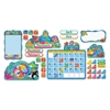 TREND Sea Buddies Calendar Bulletin Board Set, 17 1/2 x 23, 105 Pieces