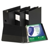 "Samsill Clean Touch Locking D-Ring Reference Binder, Antimicrobial, 1"" Cap, Black"