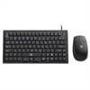 VersaPoint DuraKey Industrial and Medical Grade Keyboard and Mouse, USB, Black
