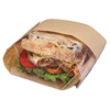 Bagcraft Dubl View Sandwich Bags, 2.35 mil, 9 1/2 x 5 3/4 x 2 3/4, Natural Brown, 500/CT