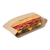 Bagcraft Dubl View Sandwich Bags, 2.55 mil, 10 3/4 x 3 1/2 x 2 1/4, Natural Brown, 500/CT
