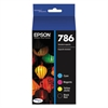 Epson T786120BCS (786) DURABrite Ultra Ink, Black/Cyan/Magenta/Yellow