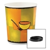 Huhtamaki Soup Food Containers w/Vented Lids, Streetside Pattern, 32 oz, 250/Carton