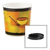 Soup Food Containers w/Vented Lids, Streetside Pattern, 16 oz, 250/Carton