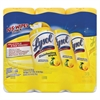 LYSOL Brand Disinfecting Wipes, 7 x 8, Lemon and Lime Blossom, 35/Canister, 3/Pack