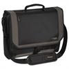Targus CityGear Miami Messenger Laptop Case, Nylon, 19 x 5 x 14, Black/Gray/Yellow