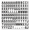 "Interchangeable Magnetic Characters, Letters, Black, 3/4""h"