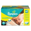 Pampers Swaddlers Diapers, Size 1: 8 - 14 lbs, 168/Carton