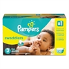 Pampers Swaddlers Diapers, Size 3: 16 - 28 lbs, 136/Carton