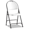 Alera Molded Resin Folding Chair, White/Black Anthracite, 4/Carton