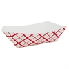 SCT Paper Food Baskets, Red/White Checkerboard, 10 lb Capacity, 250/Carton