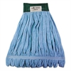 Microfiber Looped-End Wet Mop Head, Medium, Blue