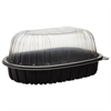Pactiv EarthChoice Roaster Combo, Black/Clear, 7.7 x 4.5 x 4.5, 110/Carton