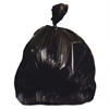 Low-Density Can Liners, 60 gal, 1.25 mil, 38 x 58, Black, 100/Carton