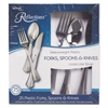 WNA Heavyweight Plastic Cutlery Combo: Fork, Knife, Spoon; Silver, 450/Carton