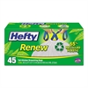 Ren Recycled Kitchen & Trash Bags, 13gal, .9mil, 24 x 27 1/4, WH, 45/BX, 6 BX/CT