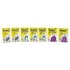 GeckoTech Reusable Hooks, Plastic, 1/2 lb, 3 lb, 5 lb Capacity, Clear, 16 Hooks