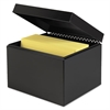 Index Card File w/Follow Block, Holds 900 6 x 9 Cards, Black