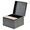 Index Card File, Holds 400 3 x 5 Cards, Black