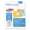 PRES-a-ply Laser Address Labels, 1 x 4, White, 5000/Box