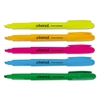 Universal Pocket Highlighter, Chisel Tip, Fluorescent Colors, 5/Set