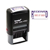 Trodat Economy Stamp, Dater, Self-Inking, 1 5/8 x 1, Blue/Red