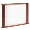 Conference Room Cabinet, Magnetic Dry Erase Board, 44 x 4 x 32, Medium Oak