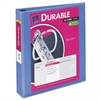 "Avery Durable View Binder w/Slant Rings, 11 x 8 1/2, 1 1/2"" Cap, Periwinkle"