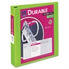 "Avery Durable View Binder w/Slant Rings, 11 x 8 1/2, 1 1/2"" Cap, Chartreuse"