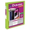 "Avery Durable View Binder w/Slant Rings, 11 x 8 1/2, 1"" Cap, Chartreuse"