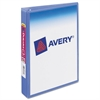 "Avery Mini Size Durable View Binder w/Round Rings, 8 1/2 x 5 1/2, 1"" Cap, Periwinkle"