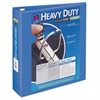 "Heavy-Duty View Binder w/Locking 1-Touch EZD Rings, 2"" Cap, Periwinkle"