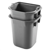 Executive Heavy-Duty Pail, Gray, Plastic, 9 3/10W x 7 1/2D x 8 1/2H