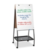 Best-Rite Wheasel Easel Adjustable Melamine Dry Erase Board, 28 3/4 x 59 1/2, White