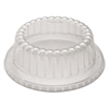 "Dome Dinnerware Lids, 1-Comp, 4.6""dia, Clear, 500/Carton"