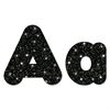 "Ready Letters Casual Combo Pack, Black Sparkle, 4"", 181 per Pack"