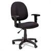 Essentia Series Swivel Task Chair with Adjustable Arms, Black