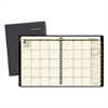 Recycled Monthly Planner, 6 7/8 x 8 3/4, Black, 2017