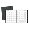 Contemporary Monthly Planner, Premium Paper, 8 7/8 x 11, Black Cover, 2017