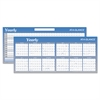Large Horizontal Erasable Wall Planner, 60 x 26, White/Blue, 2017
