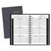 Weekly Appointment Book, Hourly Appointments, 3 3/4 x 6 1/8, Black, 2017