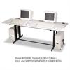 Split-Level Computer Training Table Base, 72w x 36d x 33h, Black (Box Two)