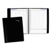 Four-Person Group Daily Appointment Book, 7 7/8 x 11, Black, 2017