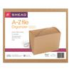 Smead A-Z Indexed Expanding Files, 21 Pockets, Kraft, Letter, Brown