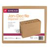 Smead Jan-Dec Indexed Expanding Files, 12 Pockets, Letter, Kraft