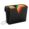 ColorVue Expanding File with SuperTab, 13 Pocket, Letter, Black/Asstd.