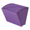 Heavy-Duty A-Z Open Top Expanding Files, 21 Pockets, Letter, Purple