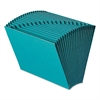 Smead Heavy-Duty A-Z Open Top Expanding Files, 21 Pockets, Letter, Teal
